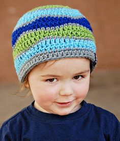 Crochet hat FREE pattern. Child and Adult sizes. I haven't made this hat yet but I have it printed out.
