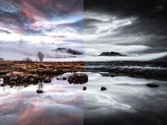 Black and White or Colour for Landscape Photography?  ||  Black and white or colour? Now this is a question I see again and again across social media and to be honest there is no 'black and white' answer (excuse the obvious pun), it really depends on the image and what the photographer is trying to convey. While black and white works across many photograp #LandscapeBlackAndWhite