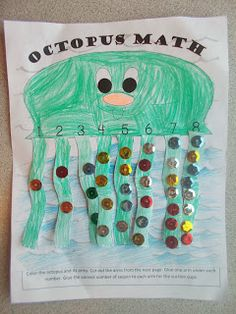 Chipman's Corner Preschool: O is for Octopus Math