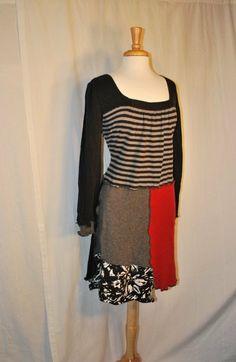 Upcycled sweater dress large by oreomocha on Etsy, $65.00