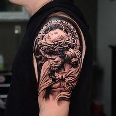 Jesus Christ Grey Tattoo
