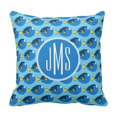 Monogram Discovering Dory Sample Throw Pillow. ** Learn more at the image