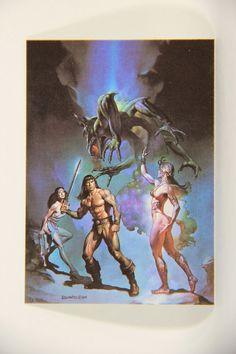 L010276 Boris Vallejo 1991 Card / The Victorious - 1984 - Card #79 / ARTWORK