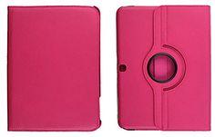 "Bright Iliac Pink {Executive Pro Carrier} 360 Degree Rotating Stand Case for Samsung Galaxy Tab 4 10.1"" Inch Tablet (High Quality Koskin Vegan Faux PU Leather Cover + Slim Folding Lightweight Design) myLife Brand Products http://www.amazon.com/dp/B00QO2GBU6/ref=cm_sw_r_pi_dp_UV9Xub110DEP1"