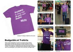 """一般旅行客の""""嫉妬心を煽るメッセージ""""の入ったTシャツを着用させた自社のプロモーター(=人メディア)に、アムステルダムの国際空港を""""普通の旅行客を装わせて""""利用させるという企画です。"""
