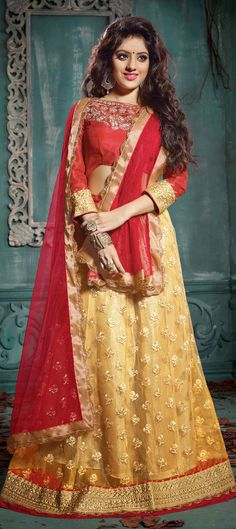 153086: BRIDAL WEAR - another new pick from our bridal #lehenga collection, have a look.  #IndianWedding #WeddingCouture #indianbride #onlineshopping