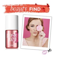 """""""Beauty Find: Benefit Posietint Lip & Cheek Stain"""" by polyvore-editorial ❤ liked on Polyvore featuring Benefit and beautyfind"""