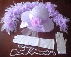 Hat Gloves Pearls Teen Ladies 57