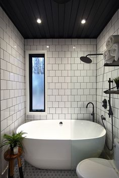 Hocking Hills shipping container cabin is Ohio's coolest getaway Bathroom Design Small, Bathroom Interior Design, Small Full Bathroom, Bathroom Renos, Bathroom Renovations, Window In Shower, Cargo Container, Container Design, Container Homes