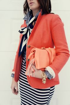 style inspiration - just bought this coral blazer!