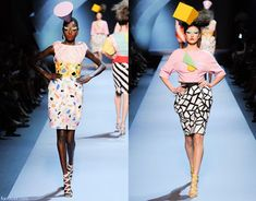 The Memphis Group inspired Christain Dior's 2011-2012 Fall-Winter haute couture collection #memphis #memphisgroup #Dior #fashion #hautecouture