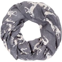 New Look Pale Grey Unicorn Print Snood ($11) ❤ liked on Polyvore featuring accessories, scarves, pale grey, circle scarves and snood scarves