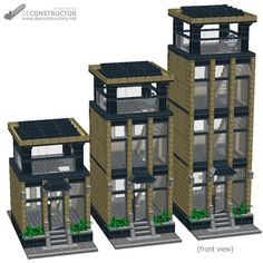 LEGO MOC MOC-6126 Office Tower (Modular building) - building instructions and parts list.
