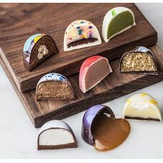 Inside Out! Too pretty to eat or too delicious to be this pretty?! We are proud to count @swmsweets among our Cercle V members (Valrhona Loyalty Program)!