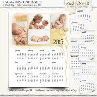 Calendar 2015 Single Page IV.