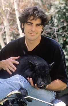 George Clooney (with his pet) TV & Movie Star