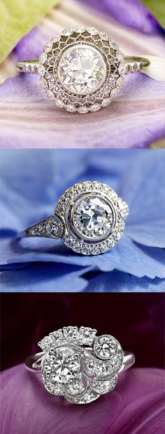 diamond rings, diamonds, jewelry, a girl's best friend, Love the idea of a one-of-a-kind antique engagement ring.
