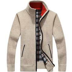 Cheap pullover sweater men, Buy Quality men sweater directly from China sweater men Suppliers: QIMAGE 2017 Men's Sweaters Autumn Winter Warm Cashmere Wool Zipper Pullover Sweaters Man Casual Knitwear Plus Size M-XXXL Zip Cardigan, Fleece Sweater, Sweater Coats, Pullover Sweaters, Mens Fleece, Men's Cardigans, Oversized Cardigan, Knit Shirt, Knit Jacket