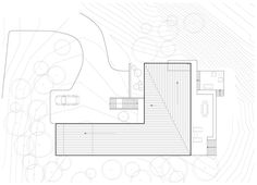 Site plan of La Sentinelle by naturehumaine