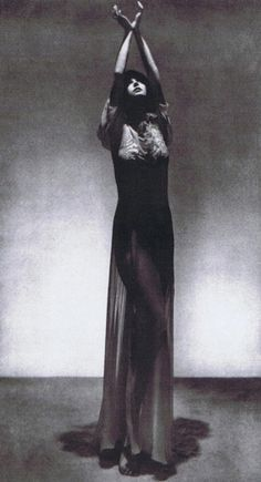 Nothing like a tall lady - photo by Man Ray