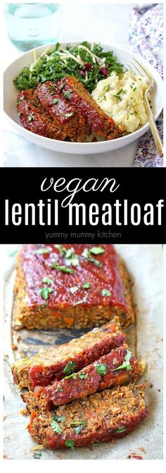 Vegan Lentil Loaf This is the best vegetarian and vegan meatloaf! This easy lentil loaf is stuffed with veggies and lentils, and is even better than the classic! Easy enough for a weeknight dinner, but tasty enough for a vegan Thanksgiving or Christmas. Veggie Recipes, Whole Food Recipes, Cooking Recipes, Healthy Recipes, Loaf Recipes, Easy Recipes, Cheap Recipes, Dishes Recipes, Easy Cooking