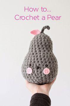 Nittybits: Crochet Pear Tutorial thanks so xox