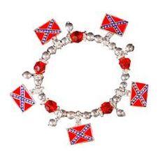 Rebel flag bracelet