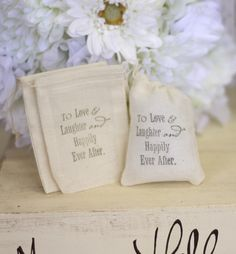 Rustic Wedding Favor Bags LOVE Quote Candy Bags by braggingbags, $55.00