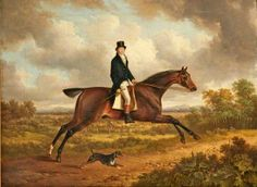 A Gentleman on a Bay Horse, Charles Towne, 1815