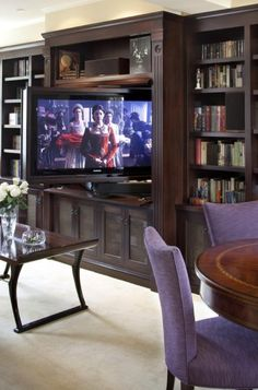 Rotating tv Built in Bookcase Fantastic