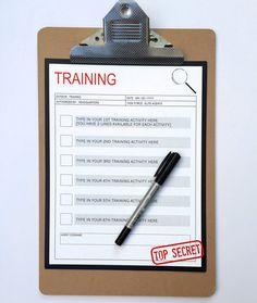Secret Agent Party Training Acitivites | Spy Birthday Party Theme | Party Games | Editable Template | INSTANT DOWNLOAD via SIMONEmadeit.com