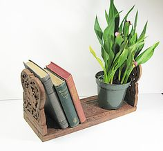 Carved Folding Book Shelf  Wood Asian Adjustable by CoconutRoad, $20.00