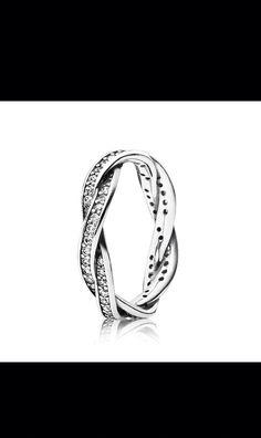 Pandora braided pave ring