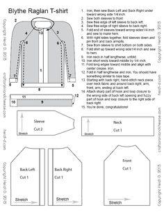 Free Super Easy Raglan T-shirt Pattern for Blythe
