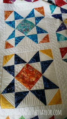Sewing Block Quilts Handmade Quilts for Sale - Custom Quilting Star Quilt Blocks, Star Quilts, Quilt Block Patterns, Half Square Triangle Quilts, Square Quilt, Quilting Projects, Quilting Designs, Quilting Ideas, Sewing Projects