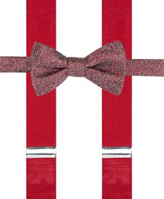 Alfani Red Bow Tie and Suspender Set, Created for Macy's   macys.com