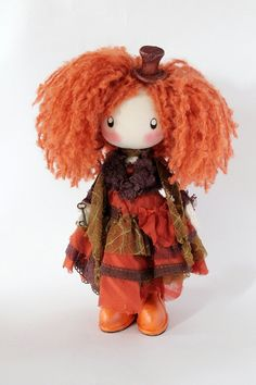 Doll Hatter L. Carroll by DollsLittleAngels on Etsy, $120.00