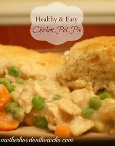 Healthy & Easy Chicken Pot Pie Recipe-192 Calories/serving (I added 1c baby lima beans)