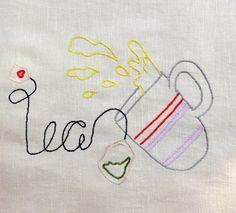 tea embroidery