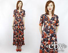 #Vintage #70s #Hippie #Boho #Floral #Maxi #Dress XS S by #shopEBV http://etsy.me/1ianlYJ via @Etsy #etsy #fashion #style #hippy , $58.00
