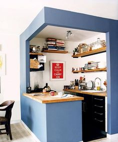 Small-kitchen-outline-it-with-paint-kitchen-inspiration-170853_rect540 via @The Kitchn
