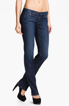 AG Jeans Straight Leg Stretch Denim Jeans (Savannah) available at #Nordstrom