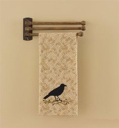 1940s Wooden Swing Arm Three Arm Towel Rack Tea Towel