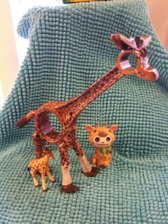 Giraffe from piston and rail road spikes.