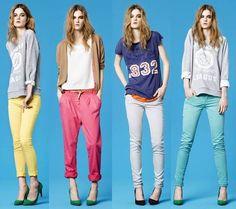 colorful pants.