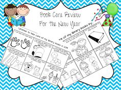 The Book Bug: New Year's Bookmarks and Book Care School Library Lessons, Kindergarten Library, Library Lesson Plans, Elementary School Library, Kindergarten Freebies, Library Skills, Class Library, Classroom Freebies, Library Books