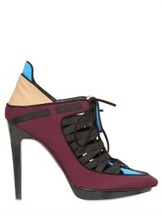 PIERRE HARDY - 110mm NEOPRENE LACE UP POINTY LOW BOOTS http://www.focusonstyle.com/fashion/frenchchic/  #FrenchChic #Parisianstyle #frenchbrands #whattowearinParis
