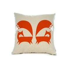 Burnt Orange Fox Cushion- the teal version is to die for and the polar bear is a monochrome gem!