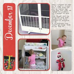 I'm continuing on my simple December Down Under pages for this month. Take a look at a page about getting ready for baby. #digiscrap #scrapbooking #December Daily