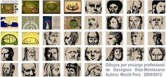 Dibujos por encargo de Georgeos Díaz Montexano  Enlace a la web del autor…
